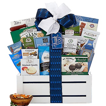 USA, United States online Florist - World Of Thanks Gift Basket Bouquet