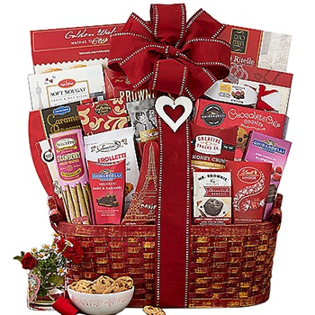 Arlington flowers  -  Valentines Abundance Baskets Delivery