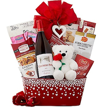 Houston flowers  -  Valentines Classics Baskets Delivery