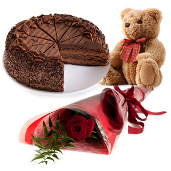 Nanterre flowers  -  Chocolate Upgrade Flower Delivery