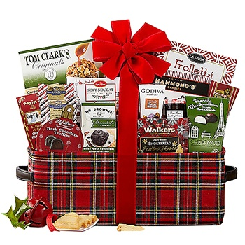 USA, United States online Florist - Warm Wishes for the Holidays Basket Bouquet