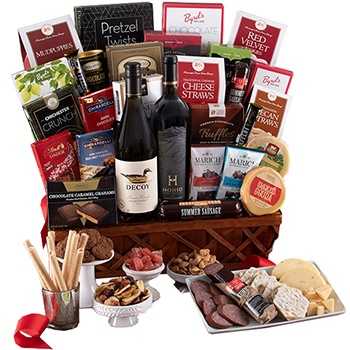 Arlington flowers  -  Kings Wine Gift Set Baskets Delivery