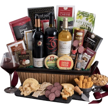 Houston flowers  -  Wind Down With Wine Baskets Delivery
