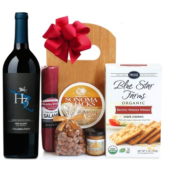 Houston flowers  -  Wine Cheese and Everything You Need Baskets Delivery