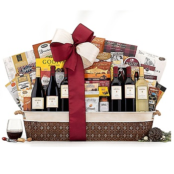 Houston flowers  -  Wine Explosion Baskets Delivery