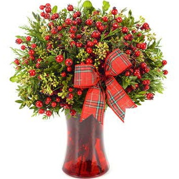 Minneapolis flowers  -  Winter Warmth Holiday Bouquet Baskets Delivery