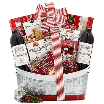 Long Beach flowers  -  Winter Wonderland Gift Collection Baskets Delivery