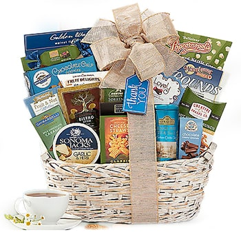 Oslo, Norway flowers  -  World Of Thanks Gift Assortment Baskets Delivery