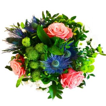 Denmark flowers  -  Pink and Blue Flower Delivery