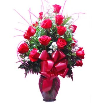 Ny Kingston online Blomsterhandler - 24 ROSER ARRANGEMENT Buket