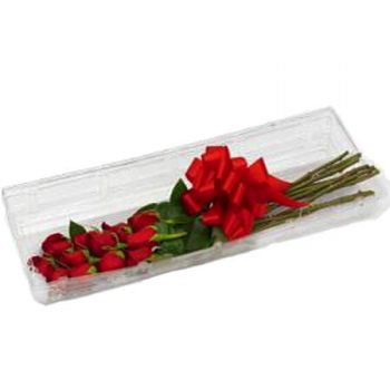 Siloah flowers  -  24 ROSES GIFT BOX Flower Delivery