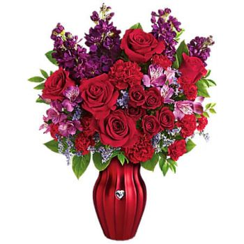 Sangre Grande flowers  -  SHINING HEART Flower Delivery