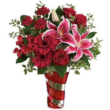 Ulster Spring flowers  -  SWIRLING DESIRE BOUQUET Flower Delivery