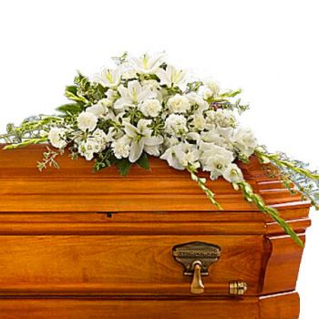 Jamaica flowers  -  BOUNTIFUL MEMORIES CASKET SPRAY Flower Delivery