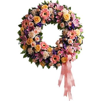 Jamaica flowers  -  GRACEFUL WREATH Flower Delivery