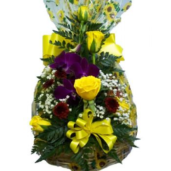 New Kingston Blumen Florist- FRUIT & GOODIE BASKET Bouquet/Blumenschmuck