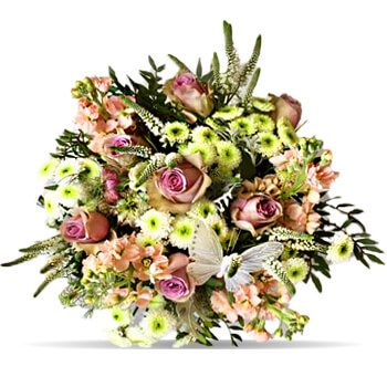 Denmark flowers  -  Pink and White Flower Delivery