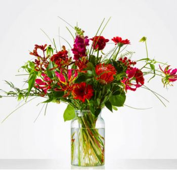 Bierum flowers  -  Bouquet Rich Red Flower Delivery