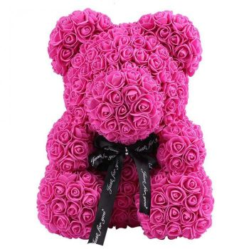 Trinidad online Florist - Luxury Pink Rose Teddy Bouquet