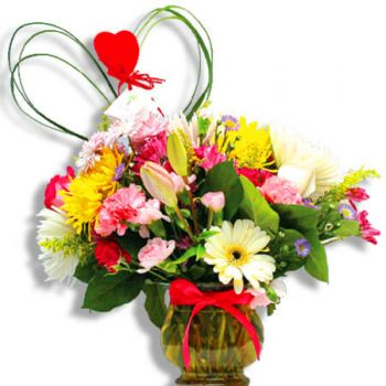 Caguas online Florist - Fresh flowers from a rain Bouquet