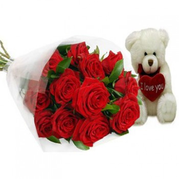Sharjah Fleuriste en ligne - Calin d'ours Bouquet