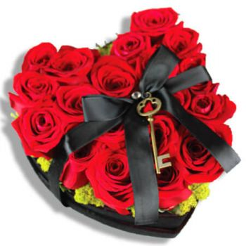 San Juan flowers  -  The key to your heart Flower Delivery