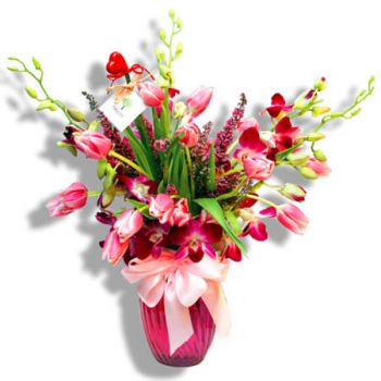 San Juan flowers  -  Pink Bomb Flower Bouquet/Arrangement