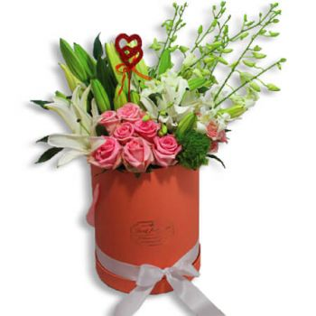 San Juan flowers  -  White and pink harmony Flower Bouquet/Arrangement
