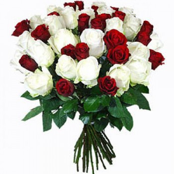 Naples flowers  -  Scarlet Roses Flower Bouquet/Arrangement