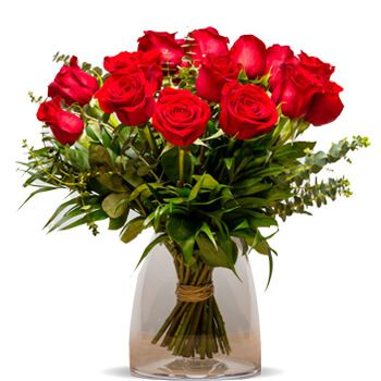 Aloha flowers  -  Versalles Red Roses Flower Delivery