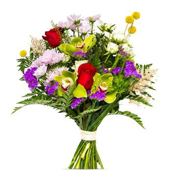 Valladolid online Florist - Barcelona Mix Flowers Bouquet