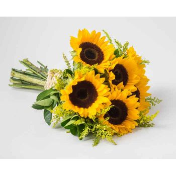 Angulo bunga- Bouquet of Sunflowers Penghantaran