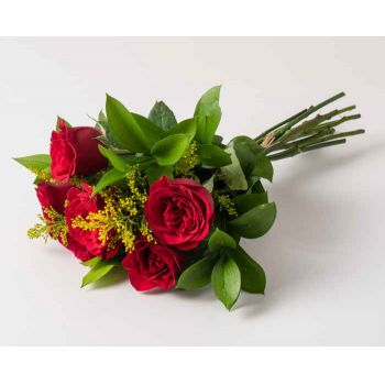 Passo Fundo flowers  -  Bouquet of 6 Red Roses Flower Delivery