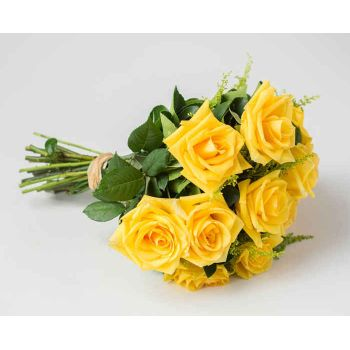 Mossoró flowers  -  Bouquet of 12 Yellow Roses Flower Delivery