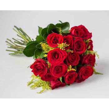 Salvador online Florist - Traditional Bouquet of 19 Red Roses Bouquet