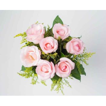 Belém online Florist - Bouquet of 7 Pink Roses Bouquet