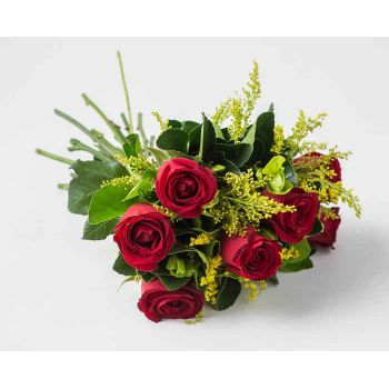 Salvador Fleuriste en ligne - Bouquet de 7 Roses Rouges Bouquet