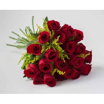 Recife flowers  -  Bouquet of 20 Red Roses Flower Bouquet/Arrangement