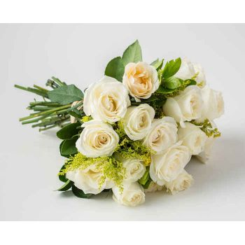 Belém flowers  -  Bouquet of 19 White Roses Flower Bouquet/Arrangement