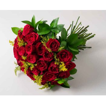 Passo Fundo flowers  -  Bouquet of 36 Red Roses Flower Delivery