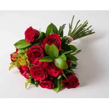 Salvador Fleuriste en ligne - Bouquet de 12 roses rouges Bouquet