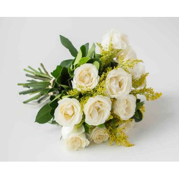 Itaguaí flowers  -  Bouquet of 12 White Roses Flower Delivery