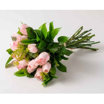 Belford Roxo flowers  -  18 Pink Roses Bouquet Flower Delivery