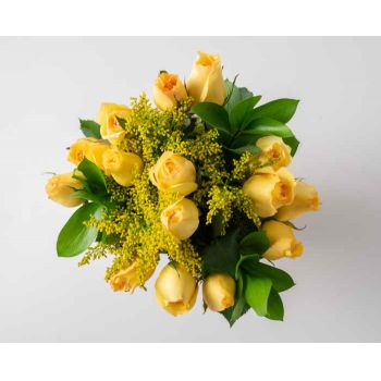 Alagoinhas flowers  -  Bouquet of 15 Yellow Roses Flower Delivery