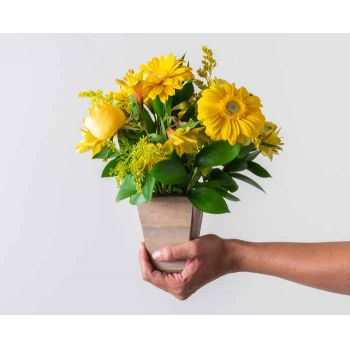 Praia Grande flowers  -  Yellow Field Flowers Arrangement Delivery