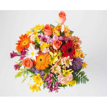 Sao Paulo flowers  -  Medium Bouquet of Colorful Field Colorful  Flower Bouquet/Arrangement