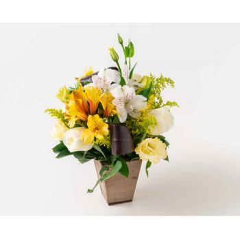 Belém online Florist - Arrangement of Lisianthus and Astromélias Bouquet