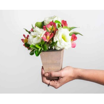 Belém online Florist - Arrangement of Field Flowers and Astromelia i Bouquet