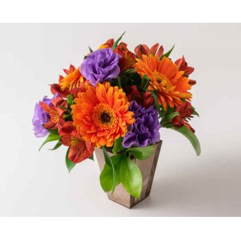 Sao Paulo flowers  -  Arrangement of Brightly Colored Field Flowers Flower Bouquet/Arrangement