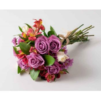 Itaguaí flowers  -  Bouquet of Field Flowers in Pink Tones Delivery